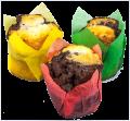 Muffin schwarz-weiß